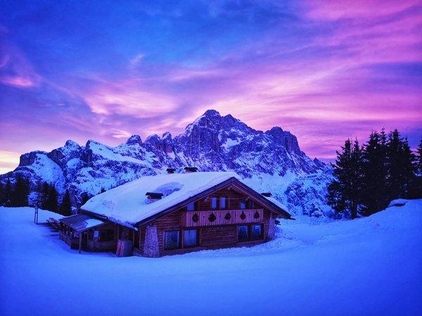 Winter presentation photo Mountain hut Ristoro Belvedere