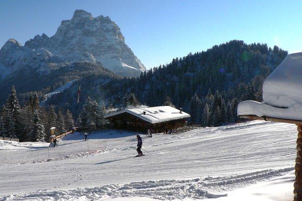 Photo exteriors in winter Mountain hut Fertazza