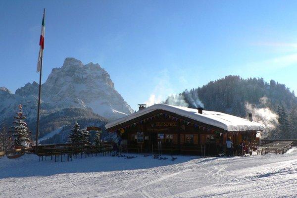 Winter presentation photo Mountain hut Fertazza