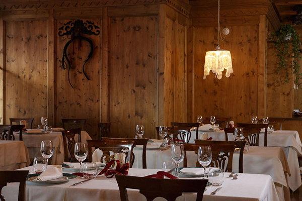 Il ristorante Cortina d'Ampezzo L'Hosteria dell'Hotel Cristallino