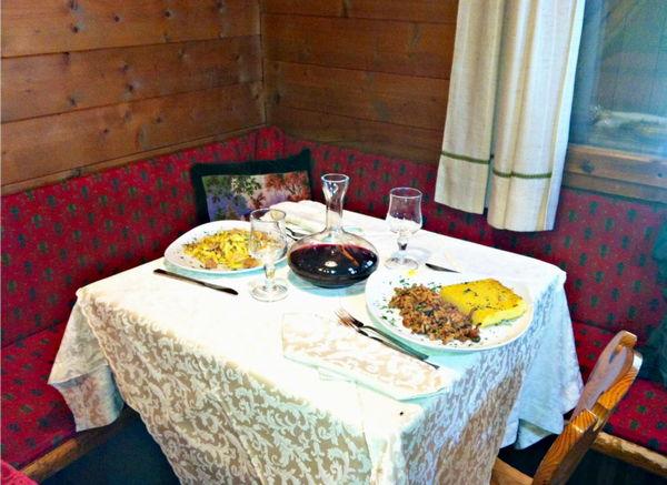 Das Restaurant Cortina d'Ampezzo Chalet Passo Cimabanche