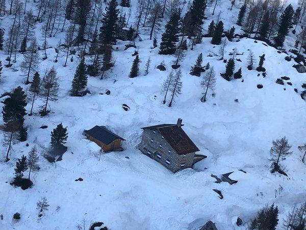 Winter Präsentationsbild Berghütte Vandelli