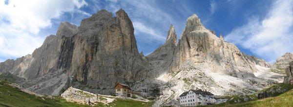 Lage Berghütte Vajolet Vigo di Fassa
