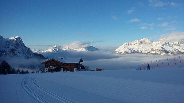 Foto invernale di presentazione Rifugio Baita Cuz