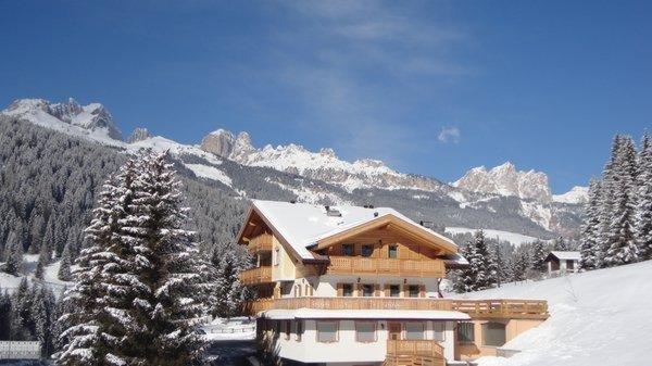 Foto invernale di presentazione Ciasa Ciampac - Appartamenti 3 genziane