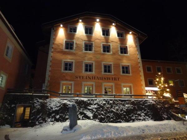 Foto esterno in inverno Steinhauswirt