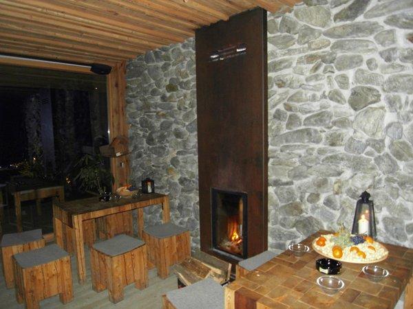 Il ristorante Caminata (Valle di Tures) Wasserfallbar