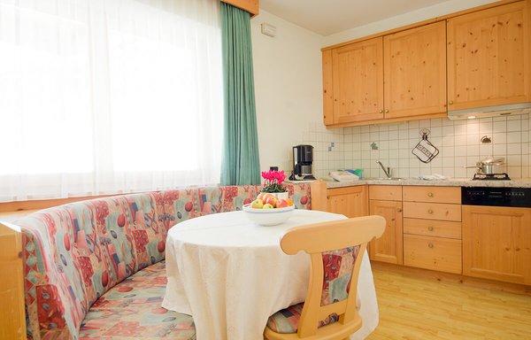 La zona giorno Cristin & Dep. Antina - Garni (B&B) + Appartamenti 2 stelle