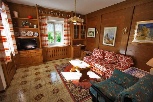 The living area Casa Serena - Apartments 3 gentians