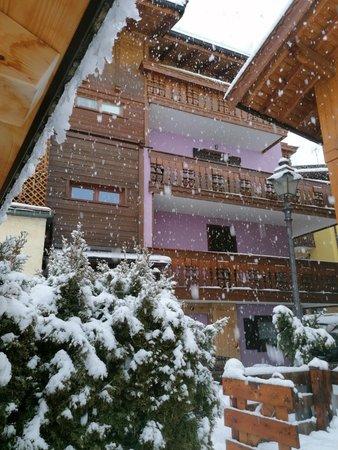 Foto invernale di presentazione Appartamenti Casa March