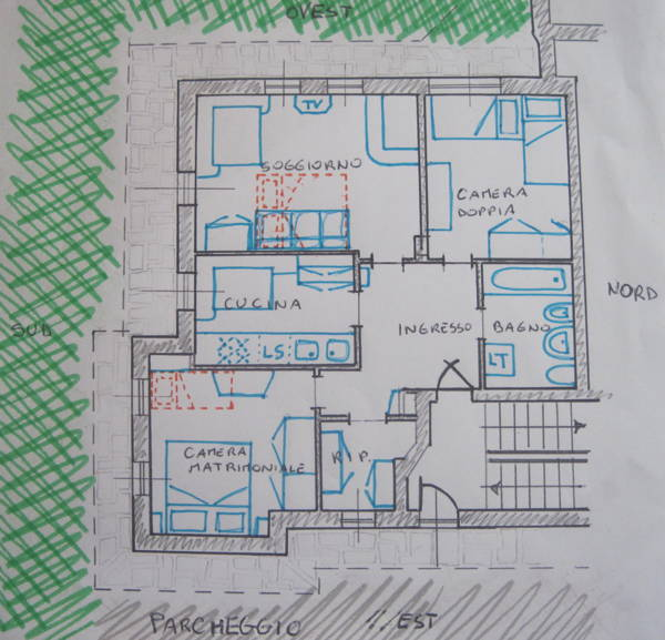 La planimetria Appartamenti Casa Mostacia