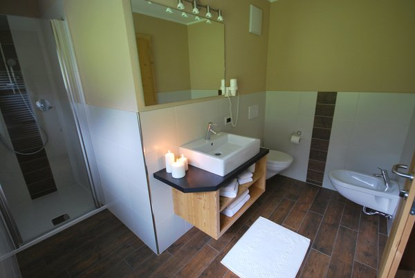 Foto del bagno Garni + Appartamenti Monti Pallidi