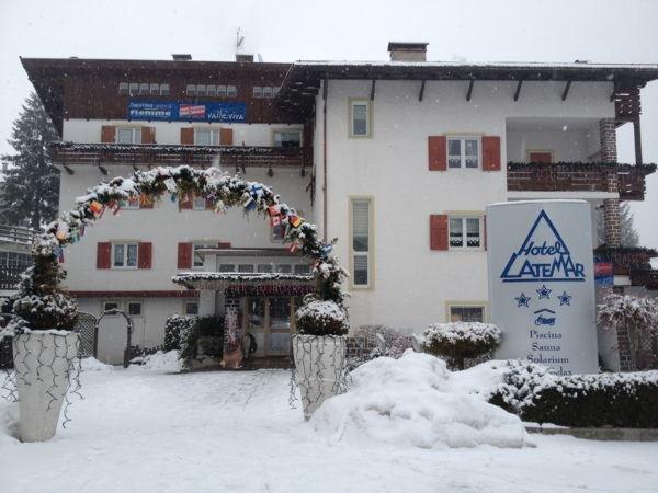 Foto invernale di presentazione Hotel Latemar