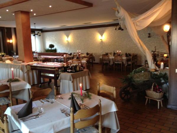 Il ristorante Castello di Fiemme Latemar