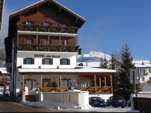 Foto invernale di presentazione Hotel Alla Rocca
