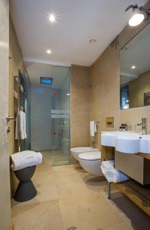 Foto del bagno Hotel Orso Grigio