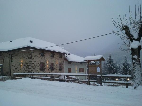 Foto invernale di presentazione Garni Fonte dei Veli