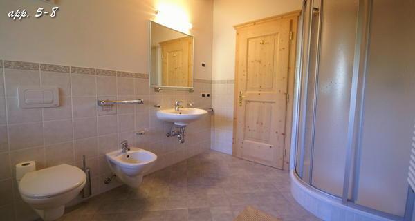 Foto del bagno Appartamenti Maso Silvestro