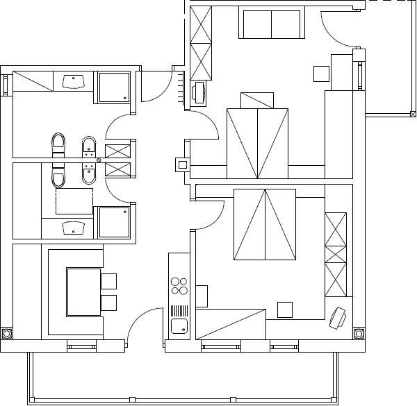 La planimetria Appartamenti Maso Silvestro