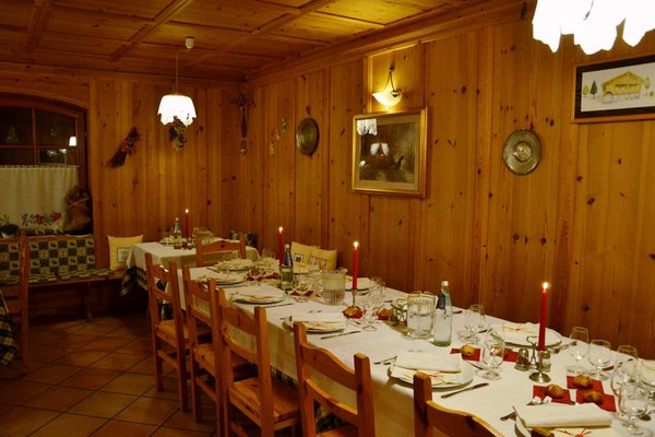 Il ristorante Ziano di Fiemme Maso Val Averta