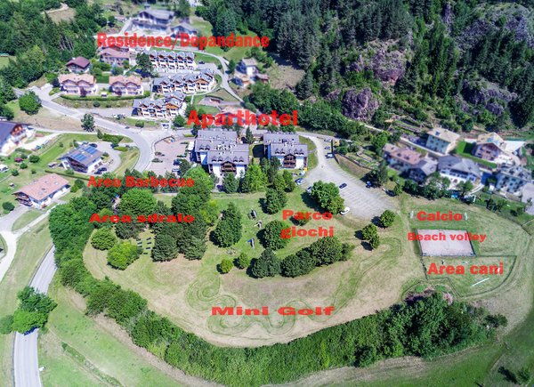 La posizione Aparthotel Des Alpes Cavalese