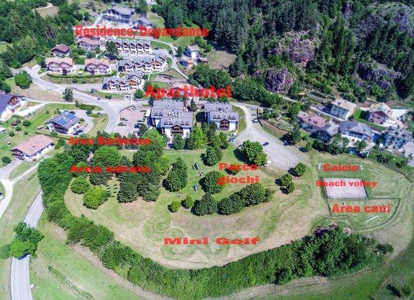 La posizione Residence Des Alpes Cavalese