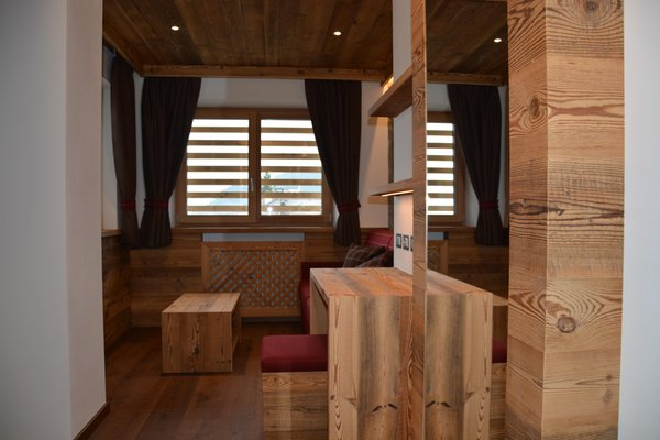 La zona giorno Bed & Breakfast Dolomites