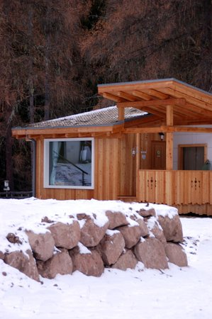 Photo exteriors in winter Fiemme Village Camping&Resort