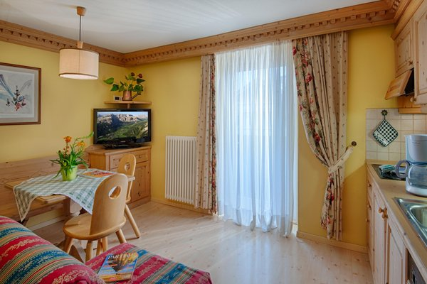 La zona giorno Residence Appartements Peter