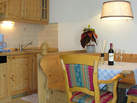 Foto della cucina Appartements Peter