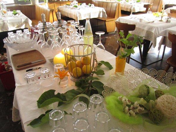 Il ristorante Colle Isarco Schuster