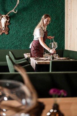 The restaurant Val Giovo / Jaufental Wanderhotel Jaufentalerhof