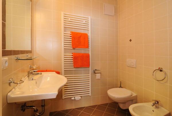 Foto del bagno Appartamenti in agriturismo Fassnauerhof