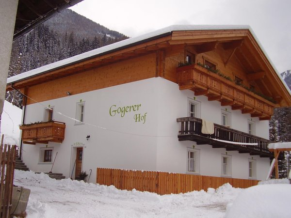Winter Präsentationsbild Ferienwohnungen auf dem Bauernhof Gogerer