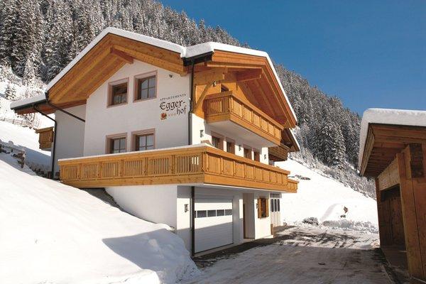 Winter Präsentationsbild Ferienwohnungen auf dem Bauernhof Eggerhof