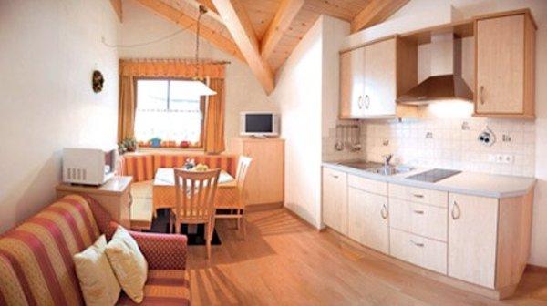 Der Wohnraum Ferienwohnungen auf dem Bauernhof Eggerhof