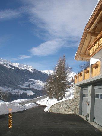 Foto Außenansicht im Winter Ferienwohnung auf dem Bauernhof Lexhof