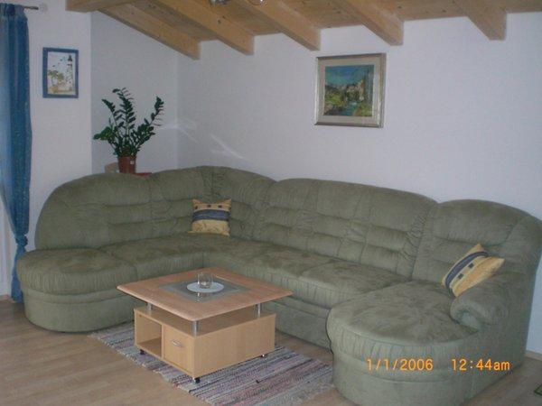 Der Wohnraum Ferienwohnung auf dem Bauernhof Lexhof