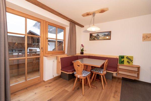 La zona giorno Appartamenti in agriturismo Sennerhof