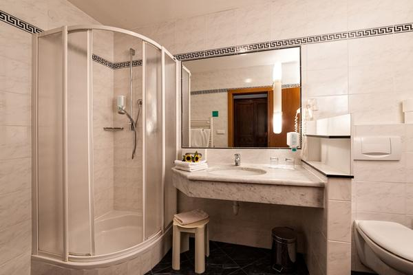 Foto del bagno Hotel Fichtenhof