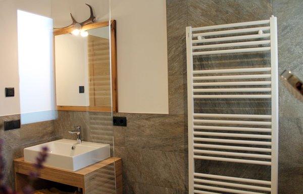 Foto del bagno Appartamenti in agriturismo Felderhof