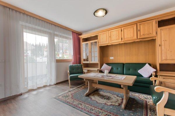 Der Wohnraum Ferienwohnungen Ciasa Costa