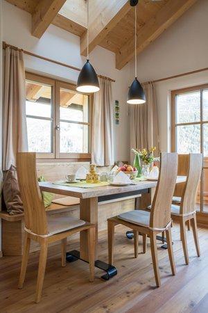 La zona giorno Hofer Hof - Appartamenti in agriturismo 4 fiori