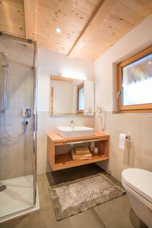 Foto del bagno Appartamenti in agriturismo Hofer Hof
