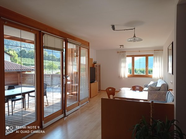 La zona giorno Appartamenti in agriturismo Obermoarhof