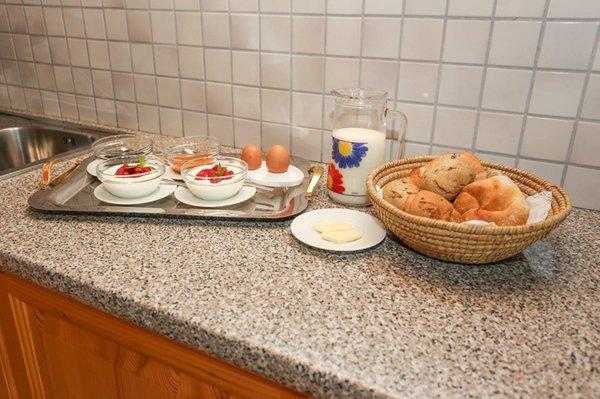 La colazione Appartamenti in agriturismo Falserhof