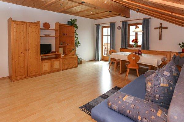 La zona giorno Appartamenti in agriturismo Falserhof