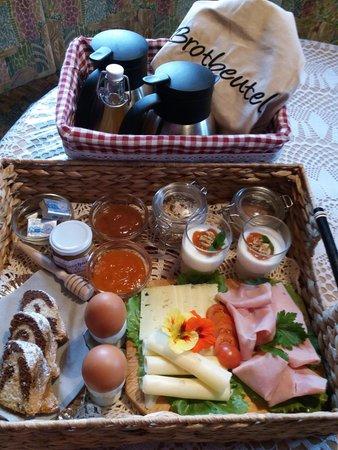 La colazione Schweiggerhof - Appartamenti in agriturismo 2 fiori