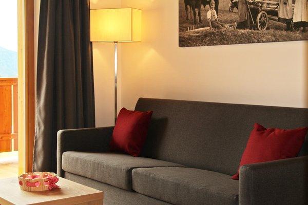 La zona giorno Garni + Appartamenti Proihof