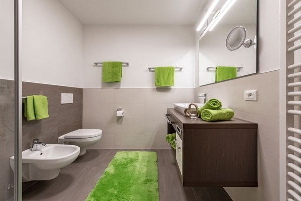 Foto del bagno living Puez apartments in the dolomites